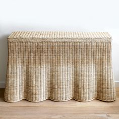Made of handwoven wicker with a scalloped bottom to create a draped appearance. Dimensions: W x D x H D Top) Material: Rattan Mainly Baskets Rattan, Wicker, Morris Homes, Interior Design Studio, Contemporary Furniture, Home Furnishings, Hand Weaving, Family Room, Baskets