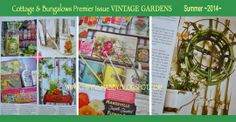 ChiPPy! - SHaBBy! Magazine Article  2014 Premier Issue VINTAGE GARDENS from the Editors of Cottages & Bungalows