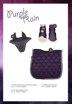 #horse #rider #horsefashion #equestrian #purple #saddlepad #tendonboots…