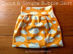 simple knit bubble skirt - NO hemming required! @Amber Cuth  this would be great for those thinner knits since it is lined - and you could use an old tshirt or something useless for the inner skirt since you won't see it :)