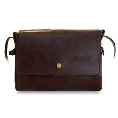 Retro Women's Crossbody Bag With PU Leather and Rivet Design