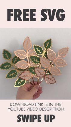 Leaf Template, Flower Template, Giant Paper Flowers, Paper Roses, Cricut Wedding, Flower Svg, Paper Crafts Origami, Cricut Tutorials, Cricut Creations