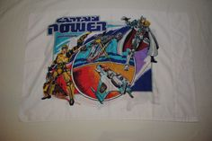 1987 Captain Power and the Soldiers Of The Future Pillowcase Standard Two Sided
