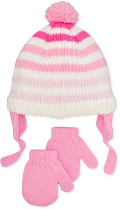 First Impressions Baby Girls' Ombré Hat & Mittens Set, Only at Macy's