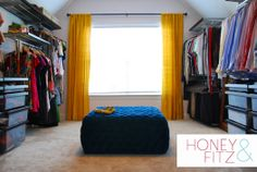 """""""Waste of space"""" Master Bedroom sitting room turned into Super Useful & Fabulous Dressing Room!!"""