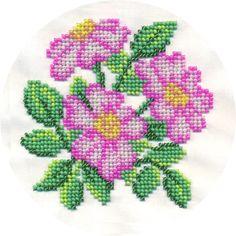 Набор для вышивания крестом и бисером Кларт « Hardanger Embroidery, Embroidery Kits, Beaded Embroidery, Cross Stitch Embroidery, Cross Stitch Rose, Cross Stitch Flowers, Cross Stitch Designs, Cross Stitch Patterns, Crochet Flower Squares