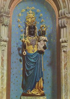 The Black Madonna of Oropa In her sanctuary near Biella and the source of the river Oropa, age uncertain, 132 cm, painted wood. photo: Maia Schiavona