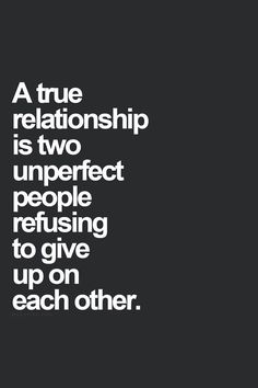 Mutual partnership. Maybe the one that gives up is so perfect.