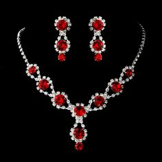 Love THIS! Affordable Elegance Bridal - 6 Sets Ruby Red Crystal Bridesmaid Jewelry, $144.99 (http://www.affordableelegancebridal.com/6-sets-ruby-red-crystal-bridesmaid-jewelry/)