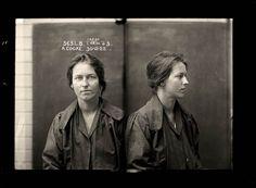 Vintage face of crime