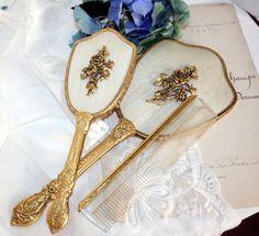 24kt Gold Plated Vanity Set
