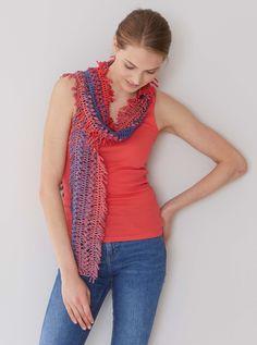 Gabelhäkeln, Hairpin Lace, Schal häkeln, crochet scarf Foto: Olaf Szczepaniak
