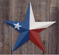 Heavy Duty Metal Star 10 Painted Solid Texas Flag These Metal Stars Are a Great Addition to Your Home Decor You Will Not Be Disappointed with the Quality and Workmanship on These Barn Stars They Are Handcrafted Out of 22 Gauge Galvanized Steel and Will Not Rust Add a Barnstar to Your Home Decor Today >>> Check this awesome product by going to the link at the image. (This is an affiliate link and I receive a commission for the sales)