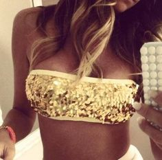 Sequin bandeau top