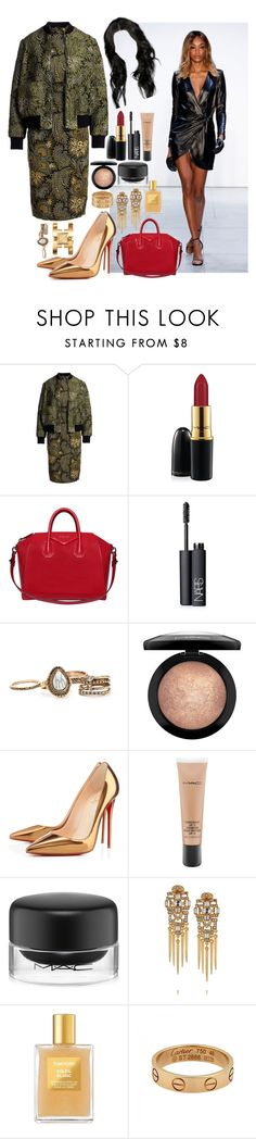 """MISHA COLLECTION FASHION WEEK."" by perfectiongod ❤ liked on Polyvore featuring Misha Collection, SUNO New York, MAC Cosmetics, Givenchy, NARS Cosmetics, Christian Louboutin, Ben-Amun, Tom Ford, Cartier and Tory Burch"
