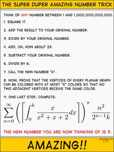 Spiked Math Comic - The Super Duper Amazing Number Trick