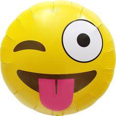 Emoji Winking Balloon - Foil (each)