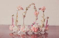 Flower Crown Pink Wire Crown Fairy Crown от LittleLadyAccessory