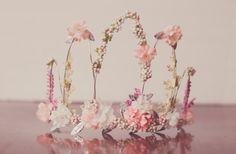 Flower Crown - Pink Wire Crown - Fairy Crown - Flowergirl hairpiece - Summer…