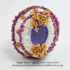 4dcebde1f12 Sugar Easter egg bead pattern, Katie Dean, Beadflowers Sugar Eggs For  Easter, Easter