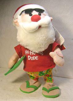 Hawaiian Singing Dancing Santa Claus HO HO HO DUDE    Animated See Video #HolidayLiving