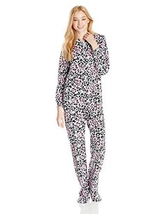 941ba9a47 Hello Kitty! » Hello Kitty Women's Cheetah-Print Footed One Piece Pajama,  White