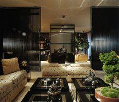 """Interior Views"" by Erica Brown, 1980: Parisian apartment by architect François Catroux"