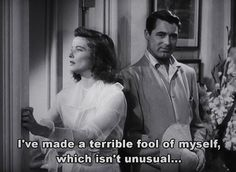 "Typical me... ""The Philadelphia Story"" (1940)"