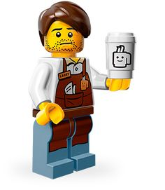 Lego Movie Minifigures - Larry the Barista