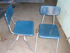9 Vintage Older Child School Chairs Mid by VintagePrintsNPhotos $150