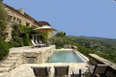 Tuscan style – Mediterranean Home Decor Swimming Pools Backyard, Swimming Pool Designs, Pool Landscaping, French Villa, Tuscan Style, Stone Houses, Types Of Houses, Cool Pools, Pool Houses
