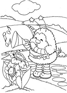 Rainbow brite Coloring Pages Online | Free coloring pages to print or color online