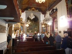 Inside the Church of our Lady of Monte in Madeira, Portugal