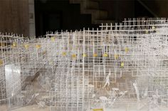 up close of the lattice work that composes the cloud-like structure / 'serpentine gallery pavilion' / sou fujimoto between nature and architecture designboom