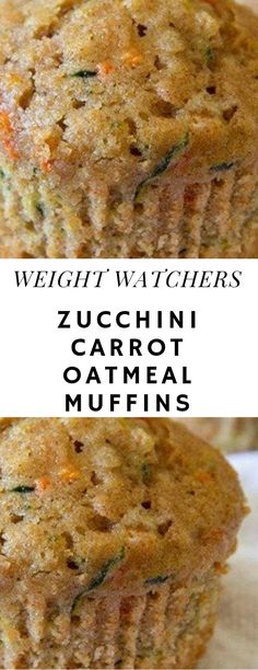 Muffins are super delicious and it is definitely one of my favourite things to have for breakfast. Oh, what I could give to have those moist chocolate chip muffins everyday without feeling guilty for having Weight Watchers Zucchini, Weight Watcher Desserts, Weight Watcher Muffins, Weight Watchers Meals, Ww Recipes, Gourmet Recipes, Cooking Recipes, Snacks Recipes, Fun Cooking