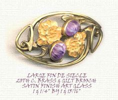 Art Nouveau and Satin Glass Jewel Poppy Sash Brooch ~ R C Larner Buttons at eBay  http://stores.ebay.com/RC-LARNER-BUTTONS