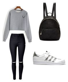 """Casual"" by diana-diiana on Polyvore featuring moda, adidas Originals e STELLA McCARTNEY"