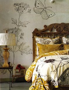 Rebecca Purcell Art Director and Stylist, Photo David Meredith, Artwork Janine Trott Dream Bedroom, Master Bedroom, Bedroom Decor, Wall Decor, Wall Art, Wall Design, House Design, Interior And Exterior, Interior Design