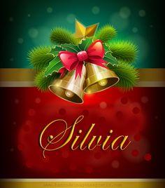 Postales navideñas con nombres: Silvia.