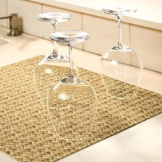$13 DryMate® Kitchen Dry Mat   Soft mat absorbs 5X its weight in water to protect counters.