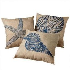Set of 3 Tropical Coastal...
