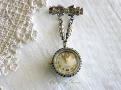 cfe31e352 Antique Ladies Pendant Brooch Watch by by AVintageObsession, $195.00  Vintage Watches Women, Antique Watches