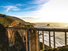 Tempo de carro até Los Angeles para San Francisco na Pacific Coast Highway (aka California State Route 1).