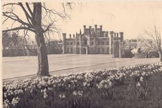 South Lawns of Lowther Castle in 1930s