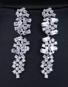 Cercei lungi mireasa cu Swarovski Elements Tik Tok, Swarovski, Brooch, Diamond, Jewelry, Bracelets, Jewlery, Jewerly, Brooches