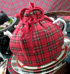 tea cozy...out of character with other belongings, but has that je ne sais quoi that somehow appeals today as fall approaches