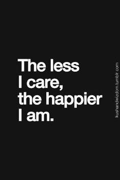 No caring