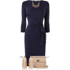 """""""Navy & Nude"""" by stay-at-home-mom on Polyvore"""