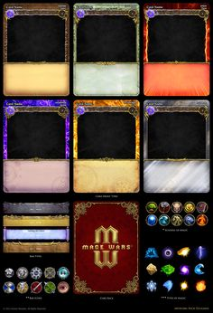 Mage Wars - card assets by Deligaris.deviantart.com on @deviantART