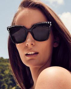 Mcm Square Cat-Eye Sunglasses w/ Stud Detail